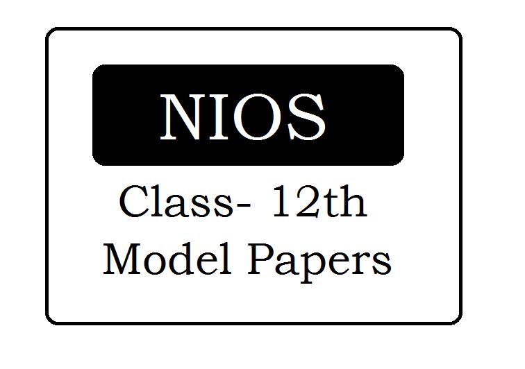 NIOS 12th Model Paper 2020