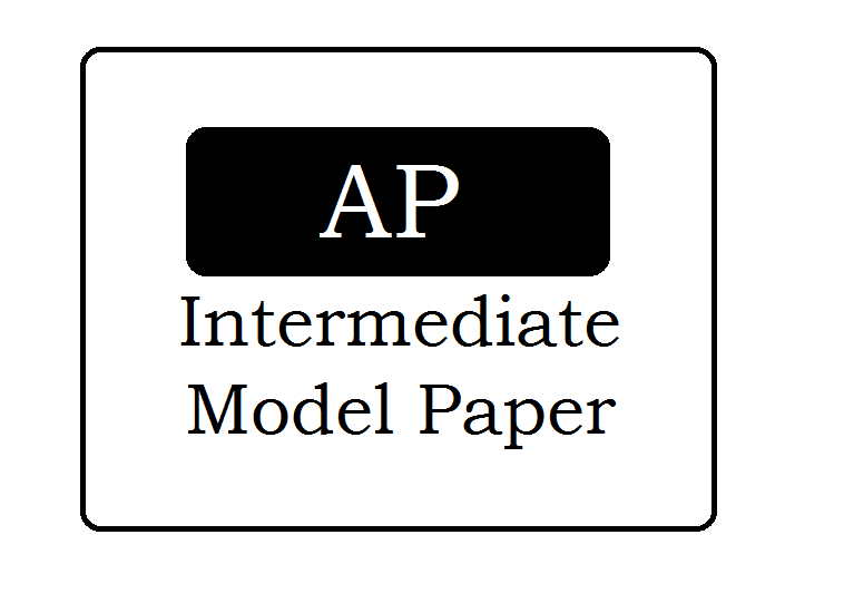 AP 1st & 2nd Year Model Papers 2021