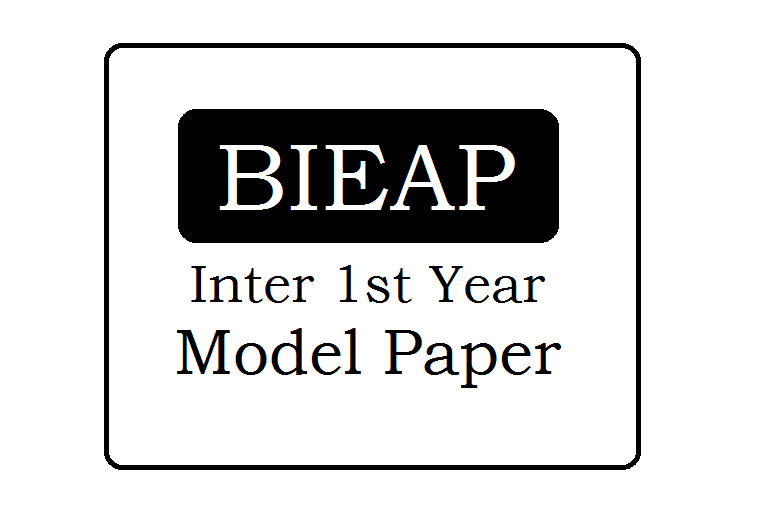 BIEAP 1st /Jr Inter Model Paper 2020