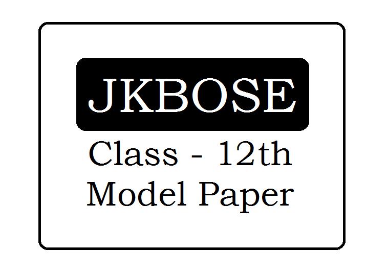 JKBOSE 12th Model Paper 2020