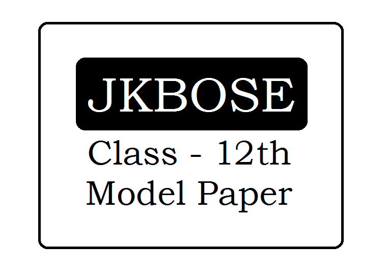 JKBOSE 12th Model Paper 2021