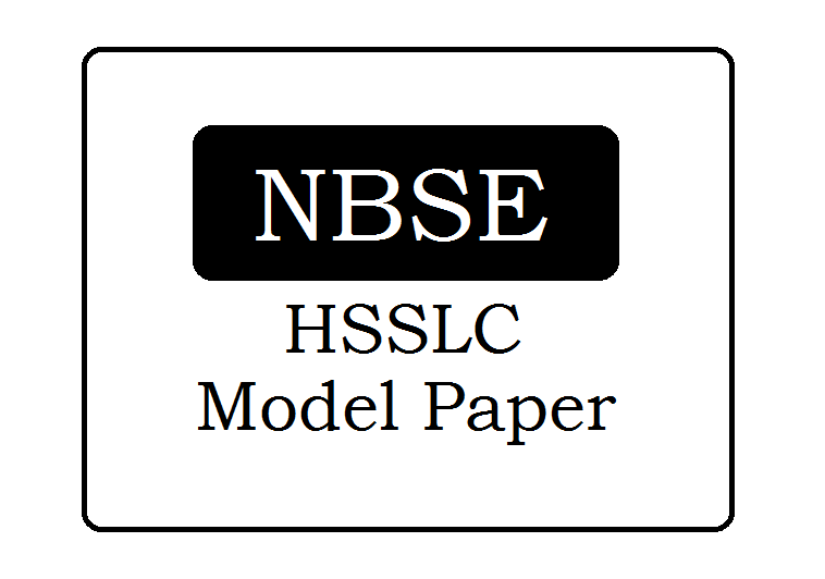 NBSE 12th Model Paper 2021