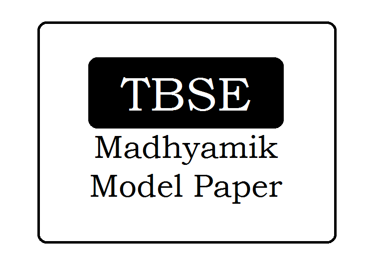 TBSE Madhyamik Model Paper 2020