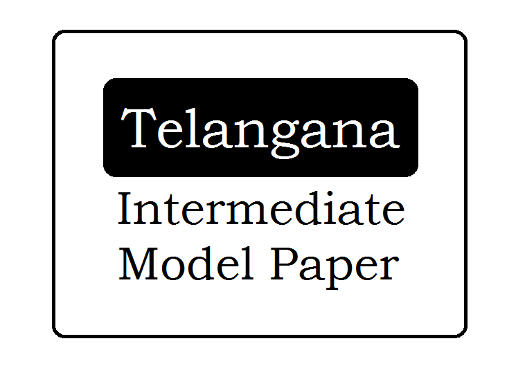 TS inter 2nd Year Model Paper 2020