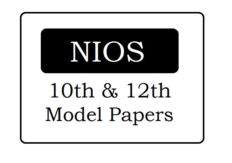 NIOS Model Paper 2021