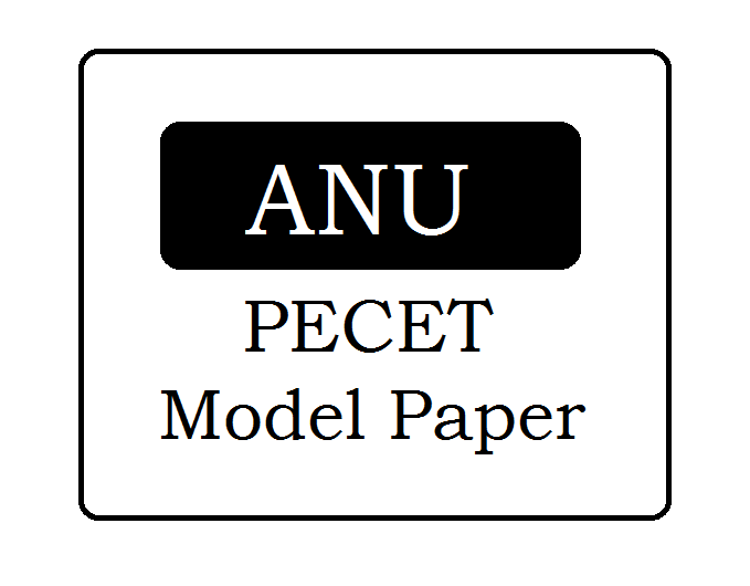 ANU PECET Question Papers 2021