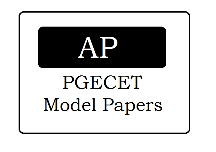 AP PGECET Question Papers 2020