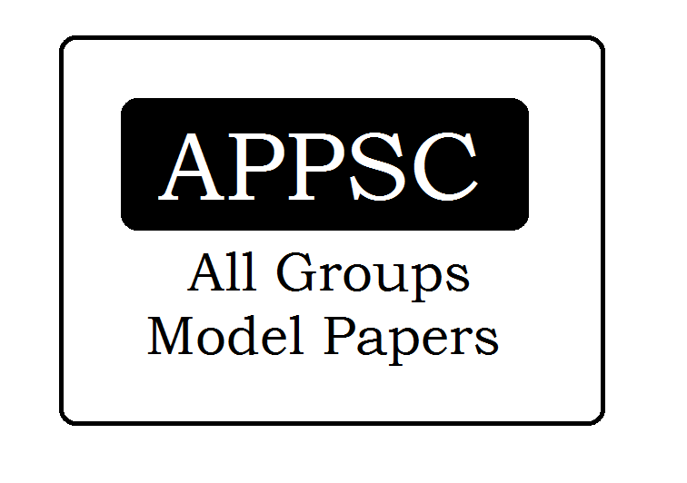 APPSC Groups Model Papers 2020