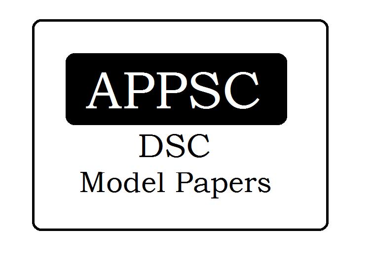 APPSC DSC Model Papers 2020