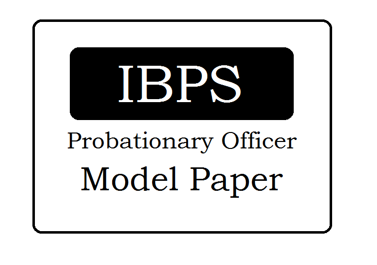 IBPS Model Papers 2020