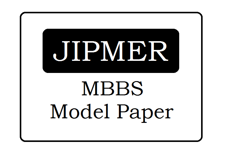 JIPMER MBBS Sample Paper 2020