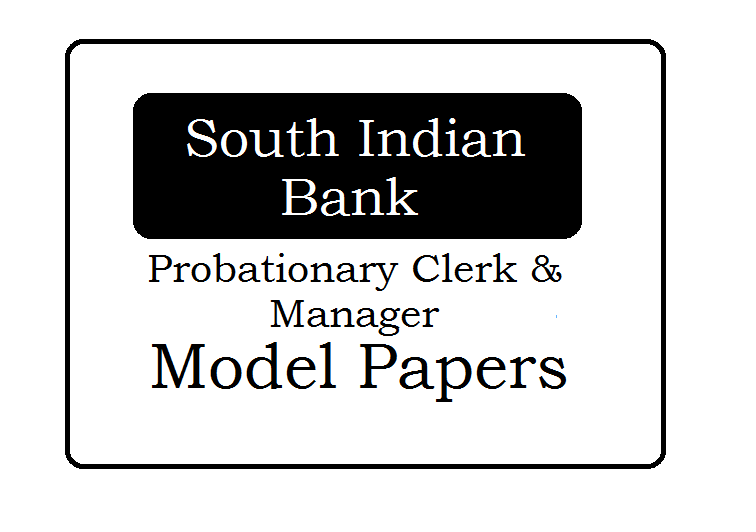 SIB Probationary Clerk and Manager Question Paper 2021