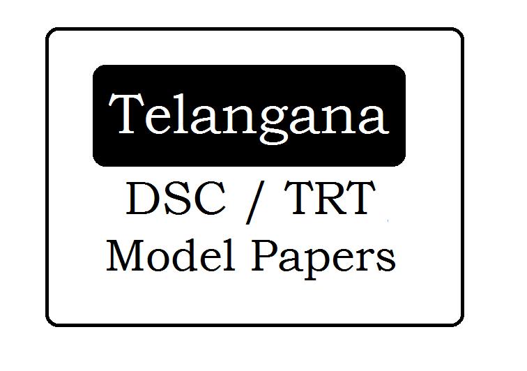 TS DSC/TRT Model Papers 2021