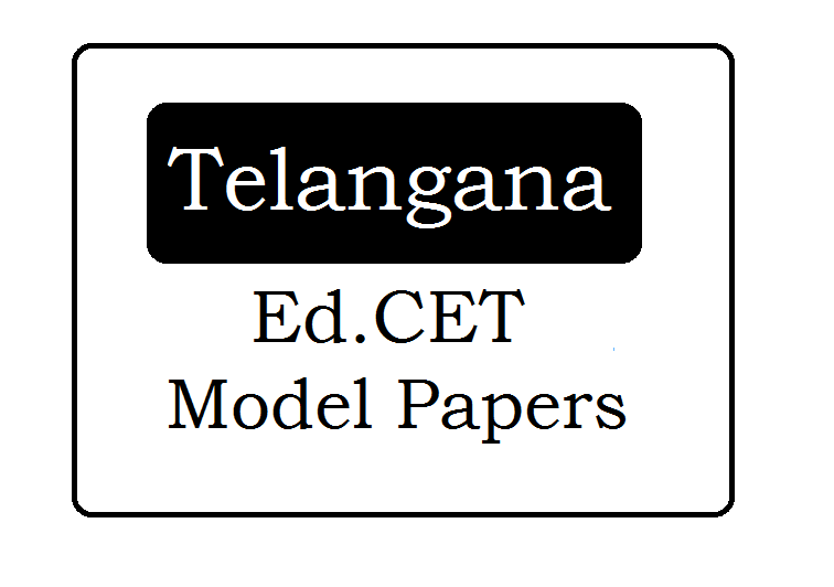TS Ed.CET Mock Test Papers 2020