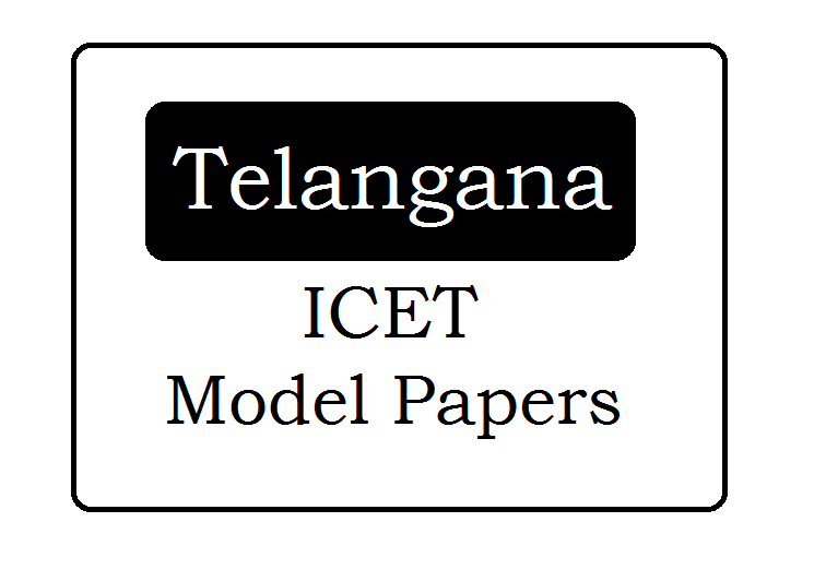 TS ICET Mock Test Papers 2020